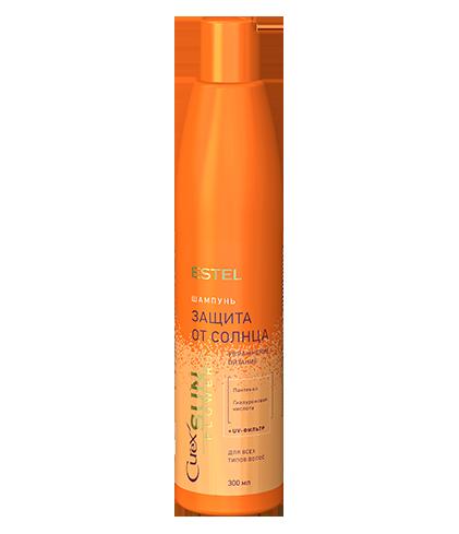 Шампунь «Увлажнение и питание» с UV-фильтром для всех типов волос CUREX SUN FLOWER Объём: 300 мл